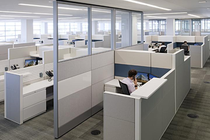 Odds are good if you work in an open floorplan office, it looks like this.