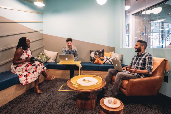 This conference room at WeWork's University Park location in Austin, Texas offers an example of a friendly, comfortable conference room. Photo: Courtesy WeWork