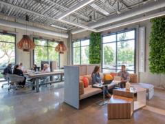 Our project for BKM Office Works incorporates many of the hot trends in workplace design gaining traction in 2018.
